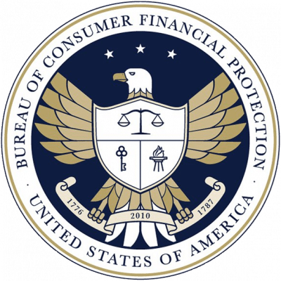 The seal of the Consumer Financial Protection Bureau (CFPB). PayPal sued them saying some of their rules were too far-reaching.